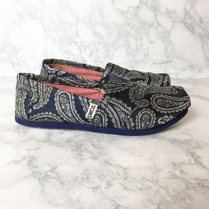 Toms Paisley Print Slip On Shoes